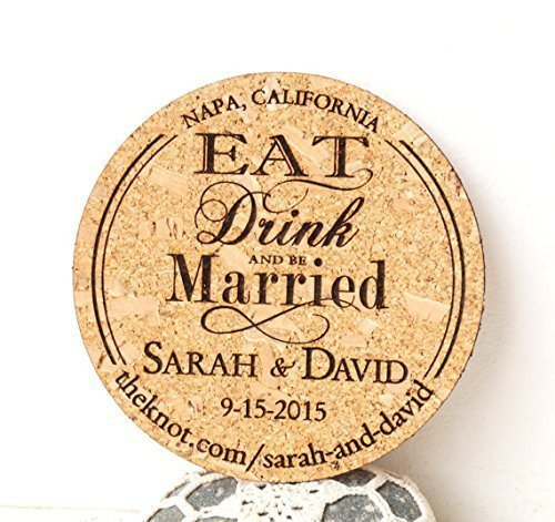 Save the Date Housewarming Gift Personalized Square Coasters Custom Mr /& Mrs Cork Coasters Laser Engraved Wedding Engagement Anniversary