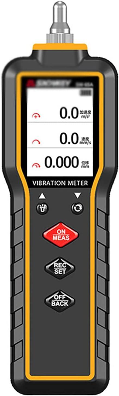 ZzheHou Medidor De Vibraciones Probador de vibración de la Mano de la Mano Probador de vibración del Motor de vibración Probador de vibración portátil (Color : Black, Size : 17.6x5.4x2.5CM)