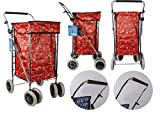 Red Owl Chariot de courses à 6 roues avec poignée réglable