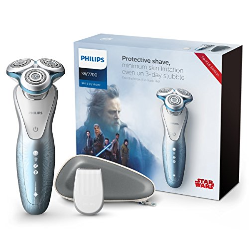 Philips Star Wars sw7700/67 Serie 7000 Elektrorasierer Wet & Dry Sonderedition Seite klar