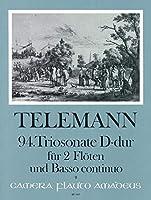 TELEMANN - Trio Sonata en Re Mayor (TWV:42/d 5) para 2 Flautas (2 Violines) y Piano (Pauler/Hess)