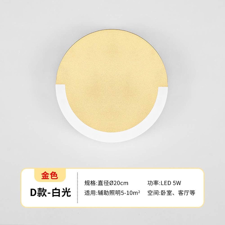 Xinxin24 Wandleuchte Schlafzimmer Einfache Moderne Nachttischlampe Wohnzimmer Led Gang Dekorative Wandlampe, Stil 15, Weies Licht 20Cm, 10W