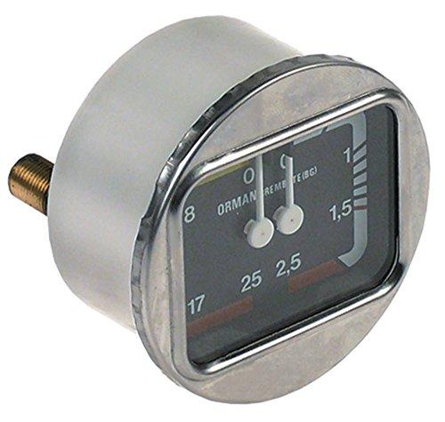 Manometer voor Bezzera B2000, BZ40, Aurora Alexia voor espressomachine, koffiezetapparaat met dubbele schaalverdeling, aansluiting aan de achterkant