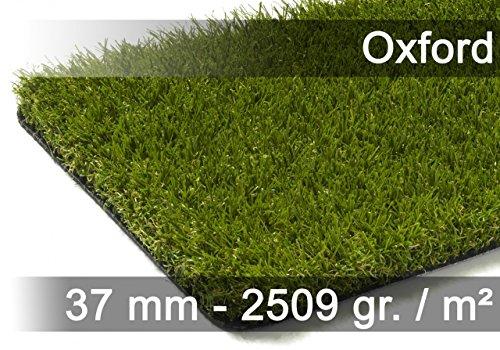 exteriortrend Kunstrasen Rasenteppich Oxford Grün in 19 Größen