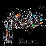 MUUZONING Promoción por tiempo limitado!Decoracion de Uñas 3D Adornos Aleación + rhinestone Diamantes Brillantes Perlas de Cristales Coloridas Perlas Uñas (# 2 piedras de colores + diamante)