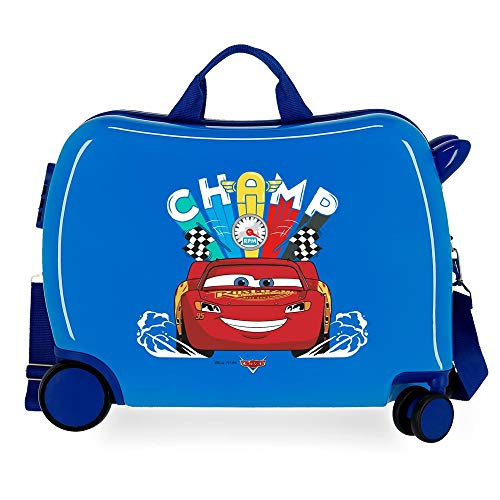 Disney Cars Lightning Mcqueen Children's Suitcase Blue 50 x 38 x 20 cm Rigid ABS Side Combination Closure 34L 3 kg 4 Wheels Hand Luggage