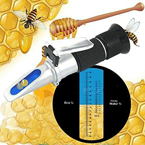 FADDARE Honig-Brix-Refraktometer mit ATC, 58-90% Brix-Zucker 10-32% Feuchtigkeitsmesser Handzuckergehalt für Honig-Gelee-Marmeladen-Sirup Leicht zu konzentrieren und zu kalibrieren