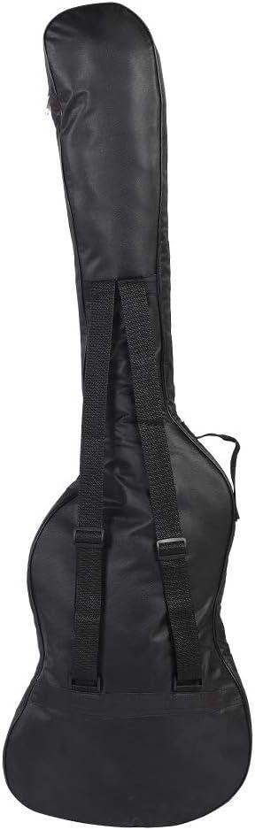 Estuche para guitarra eléctrica, duradero y resistente al agua Estuche para guitarra Bajo eléctrico Estuche acolchado para guitarra Diseño de correas dobles para bajo para ukelele para