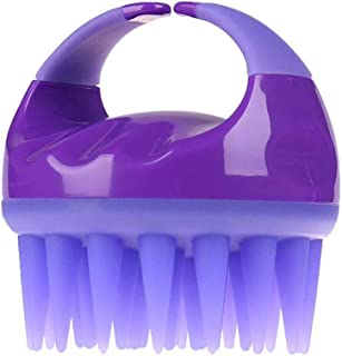 Scalp Massager Shampoo Brush,Shampoo Scalp Brush,for Scalp Exfoliate and Remove Dandruff, Promote Hair Growth.Hair Scalp Massager,Silicone Wide Teeth(Purple)