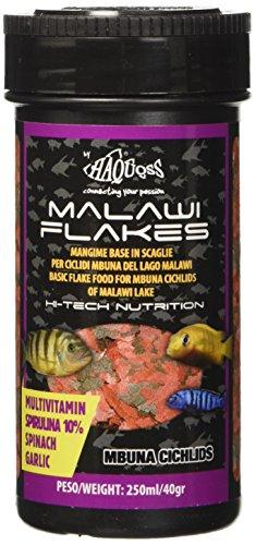 Haquoss Malawi Flakes Mangime in Scaglie per Ciclidi del Lago Malawi, 250 ml/40 gr