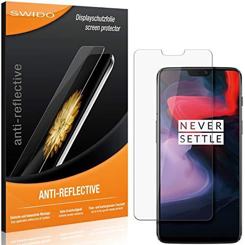 SWIDO Schutzfolie für OnePlus 6 [2 Stück] Anti-Reflex MATT Entspiegelnd, Hoher Festigkeitgrad, Schutz vor Kratzer/Folie, Bildschirmschutz, Bildschirmschutzfolie, Panzerglas-Folie