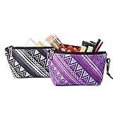 Tikea Bolsa Maquillaje - Bolsa de Cosméticos Bolsa de Almacenamiento, Bolsa Portátil de Lavado de Viaje, Bolsa Maquillaje Bolsa de Aseo para Mujer y Niñas, Mandala y Boho
