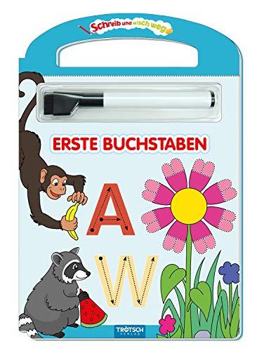 Trötsch Erste Buchstaben Schreib und wisch weg mit Stift: Übungsheft Lernheft Vorschule Grundschule (Schreib und Wisch Weg Lernhefte)