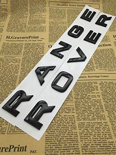 CXYYJGY Lettres de numéro ABS Noir Brillant Mot-Range Rover Insigne de Coffre de Voiture Emblème lettre autocollant autocollant