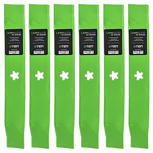 8TEN LawnRAZOR Hi Lift Blade 46 Inch Deck for Husqvarna YTH 180 1746 2046 159705 176084 532176084 532159705 6 Pack