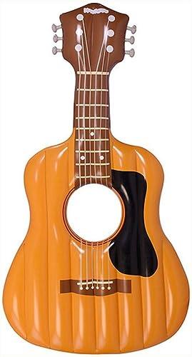 Sucastle Gitarre Badeinsel aufblasbares , Luftmatratze, Wasser-Liege, Pool-Lounge, Schwimmreifen als Schwimmtier für Kinder und Erwachsene,160cm