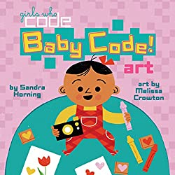 Baby code art book by Girls Who Code!