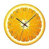 Reloj De Pared Con Diseño De Frutas, Reloj Silencioso Clás