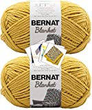 Bernat Blanket Yarn - Big Ball (10.5 oz) - 2 Pack with Pattern Cards in Color (Moss)