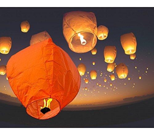 Generico Lanternes Volantes colorées Mixtes, montgolfières, 33 x 86 cm
