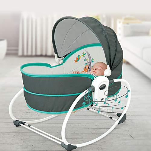 Innotic 5 in 1 Baby Bouncer Swing Chair - Baby Crib Baby Essentials for Newborn,...