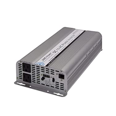 AIMS Power 2500 Watt Modified Sine Power Inverter with Battery Cables, 5000 Watt Surge Peak Power, and AC Outlets.