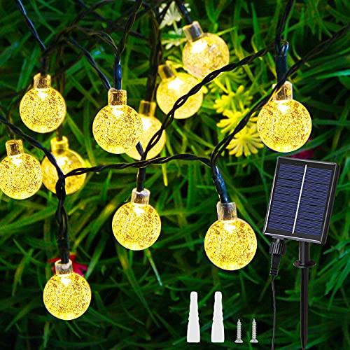 Guirnalda Luces Exterior - 60 Led 11.5M Iluminacion Jardin Impermeable IP65, Luces Navidad Farolillos Exterior Luces De Hadas para...