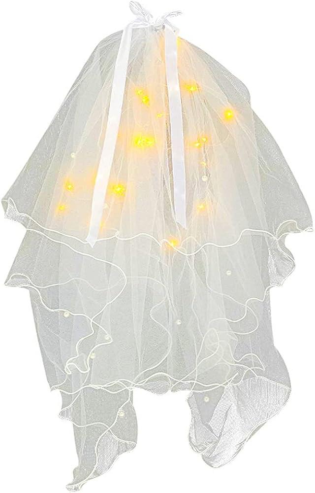 Girl's First Communion Ranking Milwaukee Mall TOP8 Veil Bowknot Hair Fairy Headband Wr Light