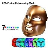 DNNAL Facial Instrumento De Belleza 7 Luz de Color Máscara LED Rejuvenecedor de la Piel Tratamiento ...