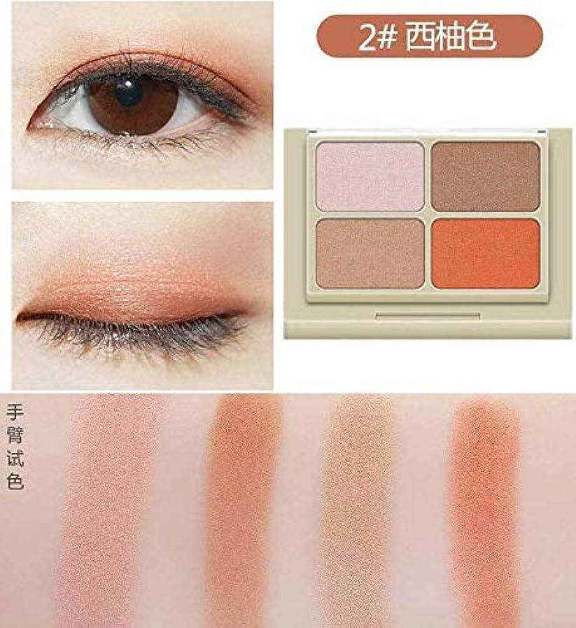 聡明不信磁石FidgetGear 4色W 575シャドウ化粧品メイクアップパレットアイシャドウマットシマーミラー グレープフルーツの色