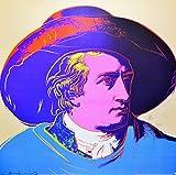 Andy Warhol Goethe red face Poster Kunstdruck Bild 66 x 66