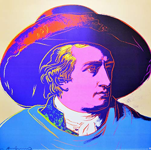 Germanposters Andy Warhol Goethe, red face (Gross) Poster Kunstdruck 97 x 97 cm