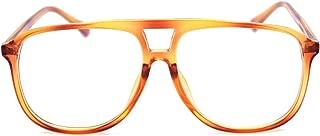 Transparent Colored Aviator Eyeglasses Frame Designer Oversized Clear Sunglasses