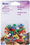 Darice Plastic Multi Push Pins, Assorted