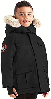 Chenega Boys Hooded Goose Down Arctic Parka with Real Coyote Fur