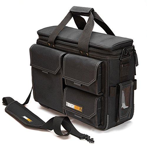 ToughBuilt - Quick Access Laptop Bag + Shoulder Strap - Contractor Briefcase, Computer Bag, Large -Fits 13' - 17' Laptops, ClipTech Pouch Compatible, Rugged Construction - (TB-EL-1-L2)