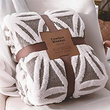 LOMAO Sherpa Fleece Blanket Fuzzy Soft Throw Blanket Dual Sided Blanket for Couch Sofa Bed  Grey 40 x50