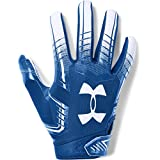 Under Armour boys F6 Youth Football Gloves Royal (400)/White Youth Small