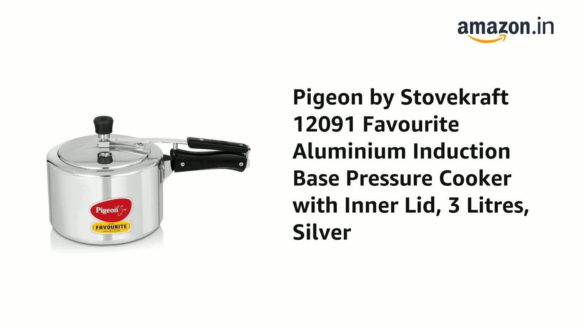 Pigeon-by-Stovekraft-12091-Favourite-Aluminium-Induction-Base-Pressure-Cooker-with-Inner-Lid-3-Litres-Silver