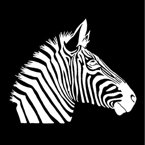Lege 4 STKS Auto stickers 7 * 13.9CM Mode Zebra Paard Patroon Vinyl Auto Sticker Cool Wild Animal Auto Styling Decal