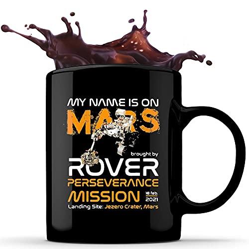 N\A Taza de café de cerámica My Name Is On Mars, 11 oz, Regalos Personalizados, sensibles al Calor en Ambos Lados