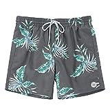 TY.OLK Pantalones Cortos de natación para Hombre Pantalones Cortos de Playa de Secado rápido Traje de baño de Verano con Bolsillos Forro de Malla