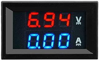 100V 10A DC Digital Voltímetro Amperímetro Azul + Rojo Pantalla a color dual LED Amp Dual Digital Volt Meter Gauge 2 in1 Multímetro - Azul