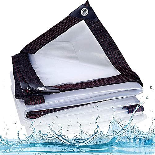 QIAOH Lona Transparente Impermeable para Invernadero 1x1m, Plegable, a Prueba De Lluvia, a Prueba De Polvo, Toldos Exterior Transparente, Protección Solar Anti-UV