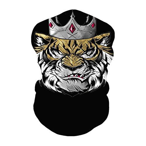 JOJOZZ Half Face Kopfbedeckung Durable Waschbare Kopfbedeckung magischer Schal Schweißband-Kopf-Verpackung Bandana Multifunktionstuch für Jogging Skifahren Festival gegen Staub Kaltes Wetter -8PCS