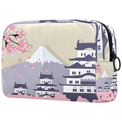 Fuji Trousse de maquillage portable Motif fleurs de cerisier