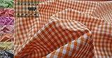 Con tapa de estilo libro diseño de tela de De colour naranja y vichy de cuadros y piezas de tela de...
