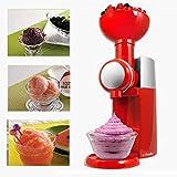 BECCYYLY Máquina de Helados, Máquina de Batidos de Helado de Fruta de Bricolaje, Fabricantes de Helados eléctricos Helado Sorbete congelado Yogurt wmpa (Color : Red)