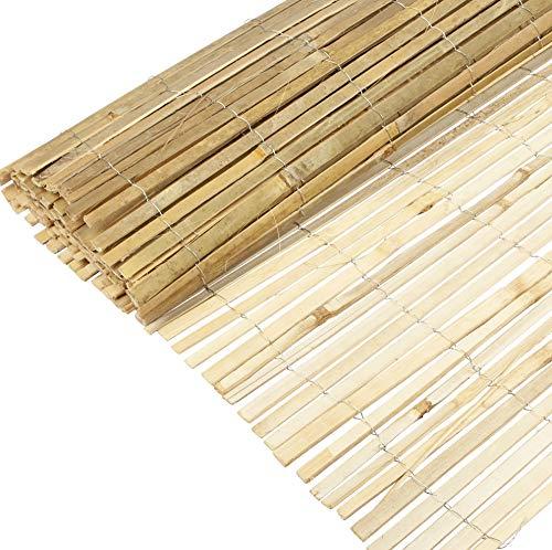 Windhager Sichtschutzmatte Mitake aus Bambus, Bambusmatte, Sichtschutz-Zaun, Windschutz, 180 x 300 cm, natur, 06689