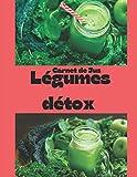 Carnet de jus legumes et detox: Livre de recette à completer / permet l'enregistrement de vos recettes de jus frais / idéal pour manger leger ,bio ,detox et sain